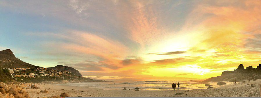 Africa, Beach, Sunset, Sunrise, Sand, Ocean, Water