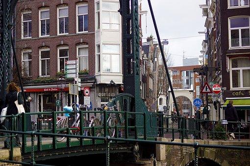 Bridge, Street, Canal, Amsterdam