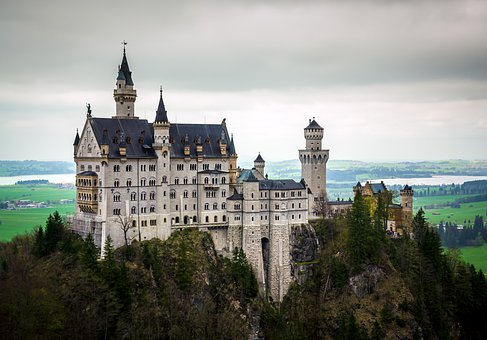 Neuschwanstein Castle, Castle, Hill, Architecture
