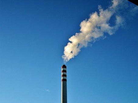 Chimney, Eat, Smoke, Sky, Blue, Industry, Fireplace