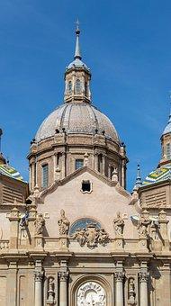Zaragoza, Basilica, Church, Spain, Architecture