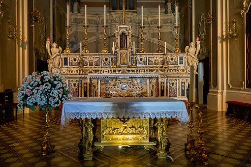 Altar, Architecture, Design, Decoration, Church