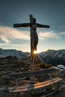 Jesus Christ, Cross, Crucifix, Wooden, Sculpture