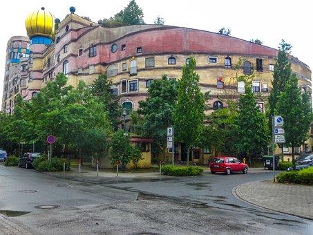 Darmstadt, Germany, Waldspirale, Forest Spiral