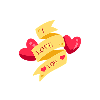 Valentine, I Love You, Ribbon, Love, Romantic, Romance