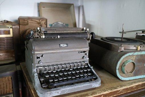 Typewriter, Poop, Letters, Print, Retro, Printer