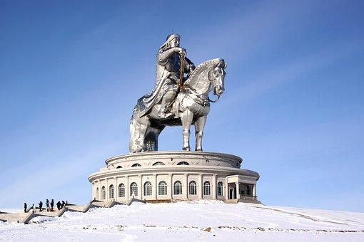 Tsonjin Boldog, Chinggiss Khan, Mongolia, Sculpture