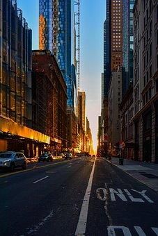 Manhattan, Sunrise, New York, Nyc, New York City, Usa