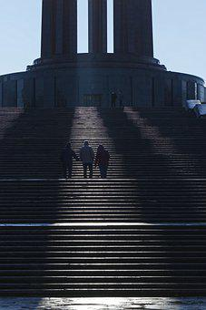 People, Stairs, Outdoors, Climbing, Monument, Sunlight
