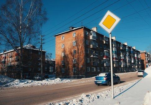Prokopyevsk, Main Road, Siberia, Road Sign