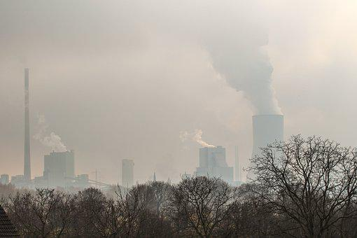 Ruhr Area, Winter, Coal Fired Power Plant, Industry