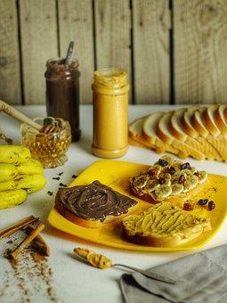 Sandwich, Peanut Butter, Food, Snack, Breakfast, Meal