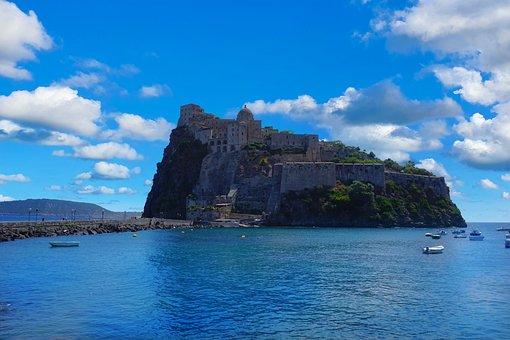 Aragonese Castle, Castle, Sea, Medieval Castle