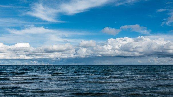 Sea, Clouds, Horizon, Ocean, Sky, Cumulus