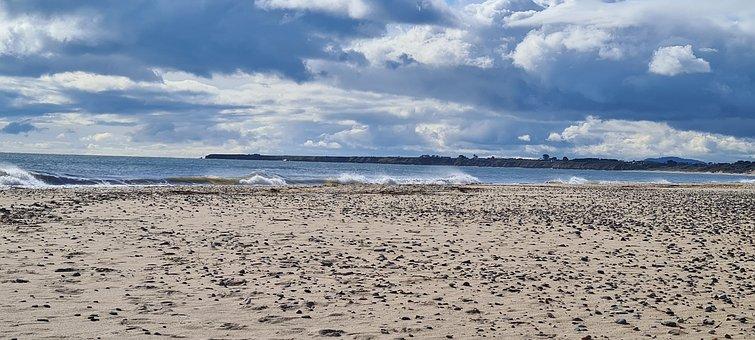 Wicklow, Brittas, Sea, Sand, Beach, Ocean, Nature
