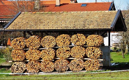 Wood, Combs Thread Cutting, Firewood, Holzstapel