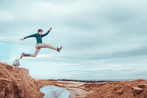Man, Jumping, Freedom, Jump, Happy, Joy, Young Man