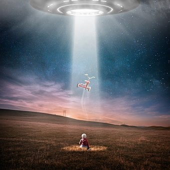 Ufo, Aliens, At Night, Abduction, Star, All, Child