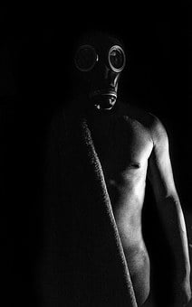 Naked, Black And White, Mask, Black, White, Body, Adult