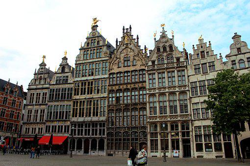 Antwerp, Belgium, Clouds, Architecture, Sky