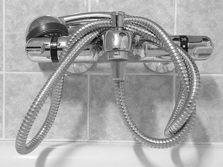 Shower Head, Valve, Shower, Bath, Wash, Swim, Metal