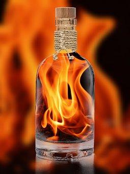 Flame, Embers, Bottle Fiery, Fire, Hot, Burn, Campfire