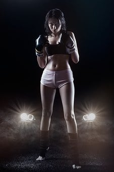 Female Body, Boxing Gloves, Boxing, Sports, Breast