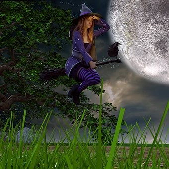 The Witch, Broom, Halloween, Weird, Atmosphere