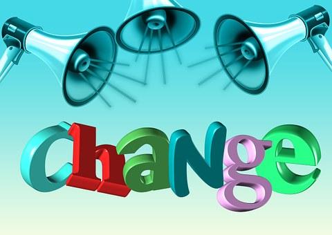 Change, Megaphone, Announcement, Start, New Beginning