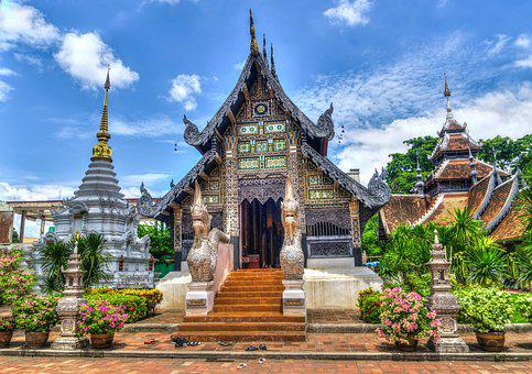Chiang Mai, Thailand, Temple, Religion, Travel, Nature