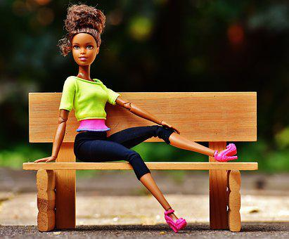 Beauty, Barbie, Bank, Sit, Pretty, Doll, Charming