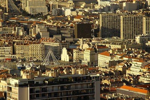 Marseille, Ferris Wheel, Port