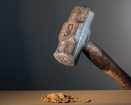 Hammer, Sledgehammer, Mallet, Tool, Striking, Hitting