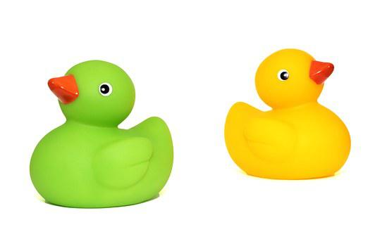 Ducks, Toys, Duck, Baby, Child, Cute, Isolated