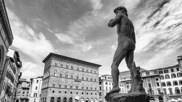 Michelangelo, David, Florence, Sculpture, Italy, Statue