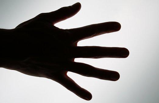 Fingers, Hand, Outline, Shape, Silhouette, Wrist