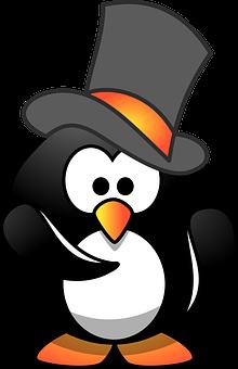 Penguin, Hirer, Hiring, Top Hat, Face, Person, Hat