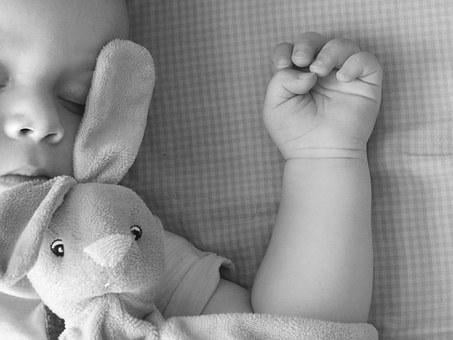 Black White, Baby, Small Child, Sleep, Hand Tool, Hug