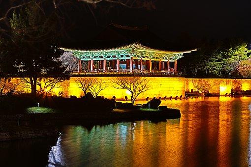 Republic Of Korea, Racing, Anapji, Section, Temple