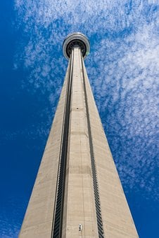 Toronto, Architecture, Skyscraper, Blue Sky, Tower