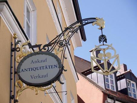 Antique Art, Sign, Store, Ancient, Metal Art, Lantern