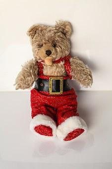 Teddy, Christmas Gift, 1953, Christmas Pants, Antique
