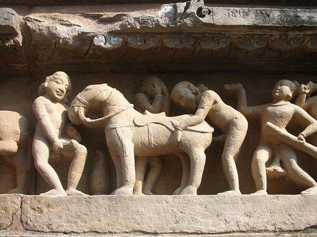 Khajuraho, Indian, Kamasutra, Kama-sutra, Sex, Art