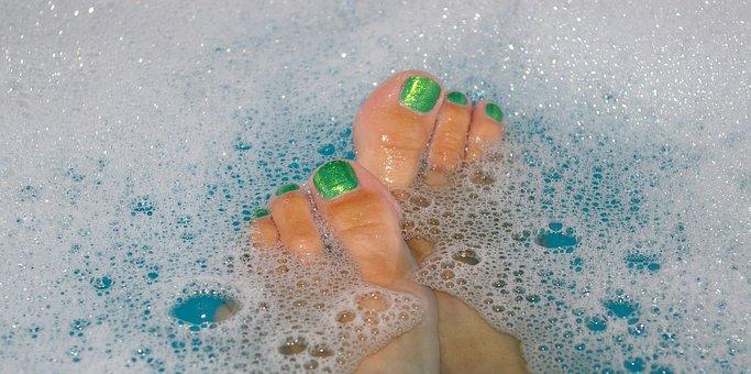 Bath Water, Badeschaum, Soap Bubbles, Bath, Bath Foam