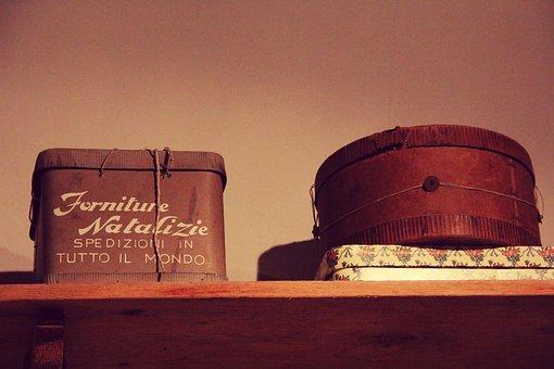 Box, Antique, Vintage, Christmas, Retro, Wooden, Wood