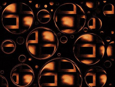 Circles, Bubbles, Brown, Design, Background, Symbol