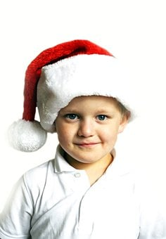 Christmas, Boy, Child, Kid, People, Season, Cap, White