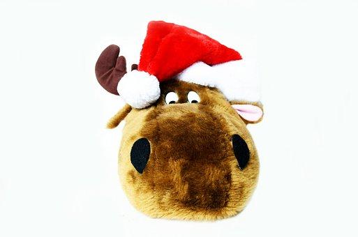 Christmas, Reindeer, Symbols, Toy, Greeting, Cards