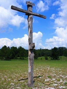 Sky, Cloud, Cross, Crucifixion, Christ, Christianity
