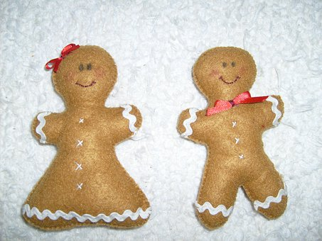 Gingerbread, Textile, Mézi, Christmas, Game, Gift